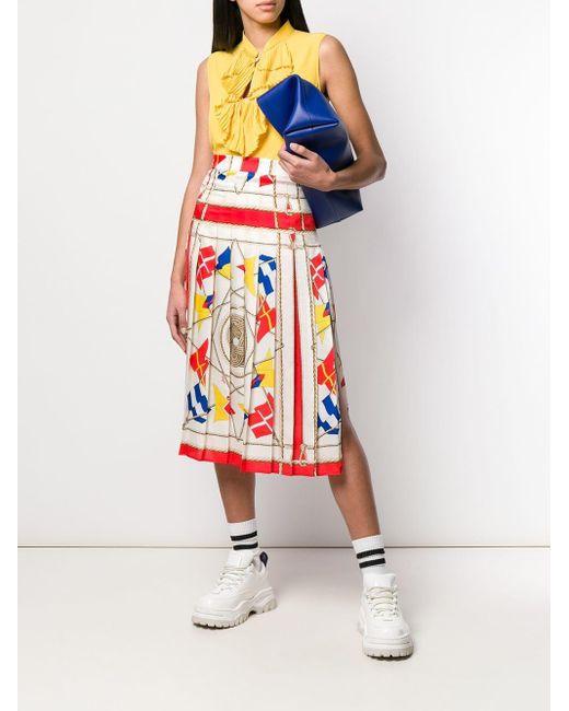 MSGM プリーツ ミディスカート Multicolor