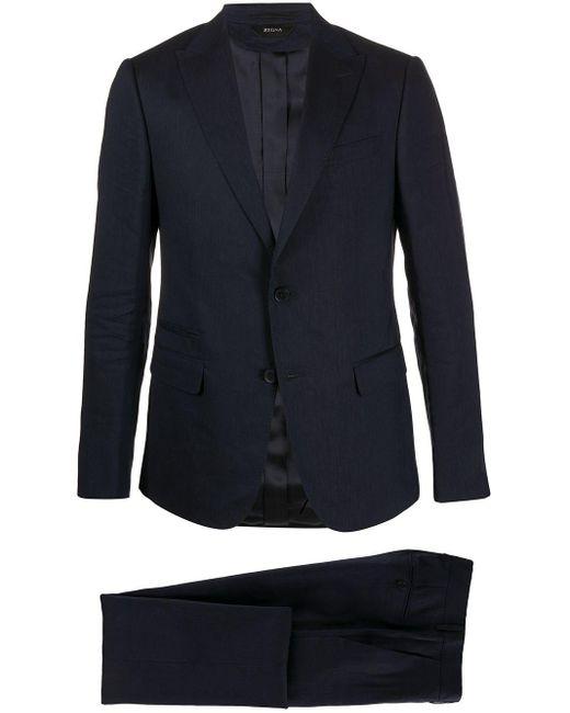 メンズ Z Zegna テーラードスーツ Blue