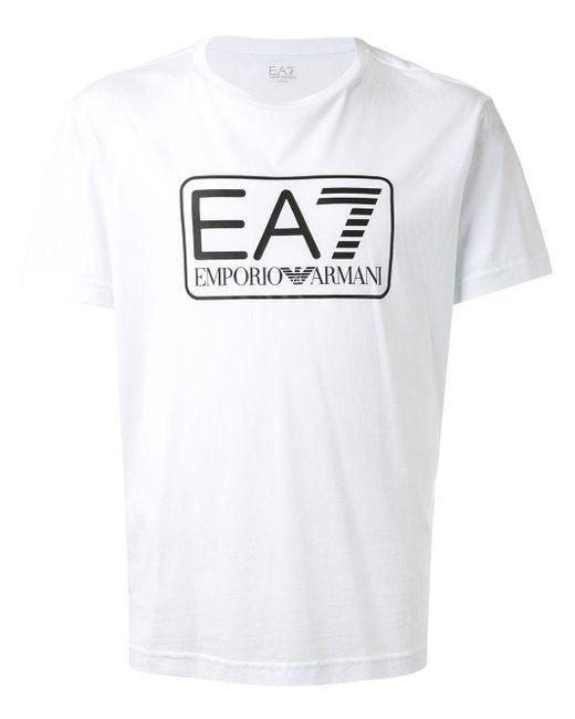メンズ EA7 Ea7 Tシャツ White