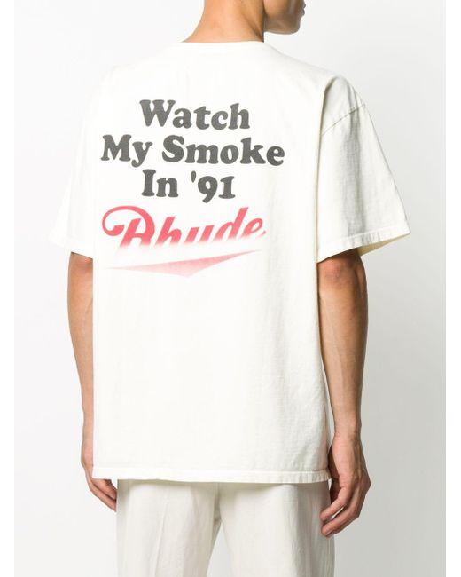 メンズ Rhude コットンtシャツ White