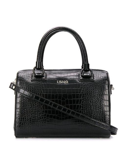 Liu Jo クロコダイルパターン ハンドバッグ Black