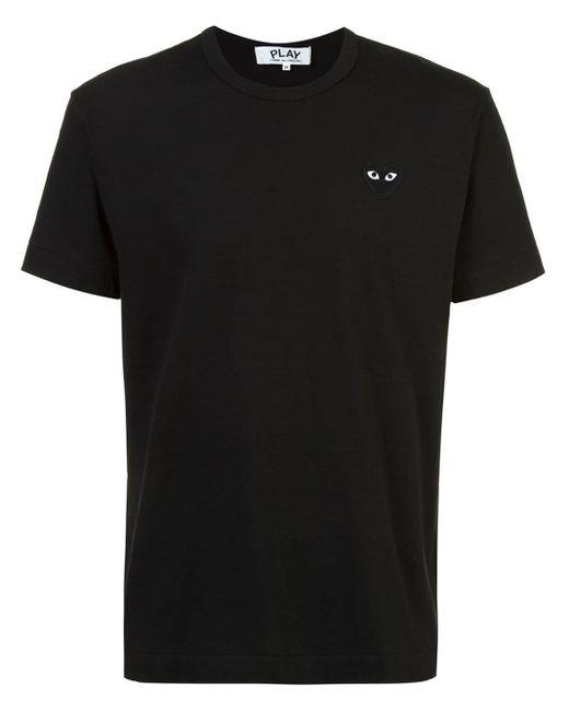T-shirt à logo COMME DES GARÇONS PLAY pour homme en coloris Black