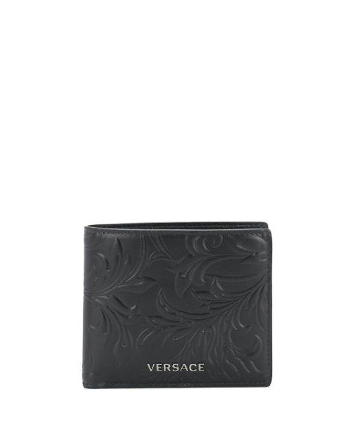 メンズ Versace 二つ折り財布 Black