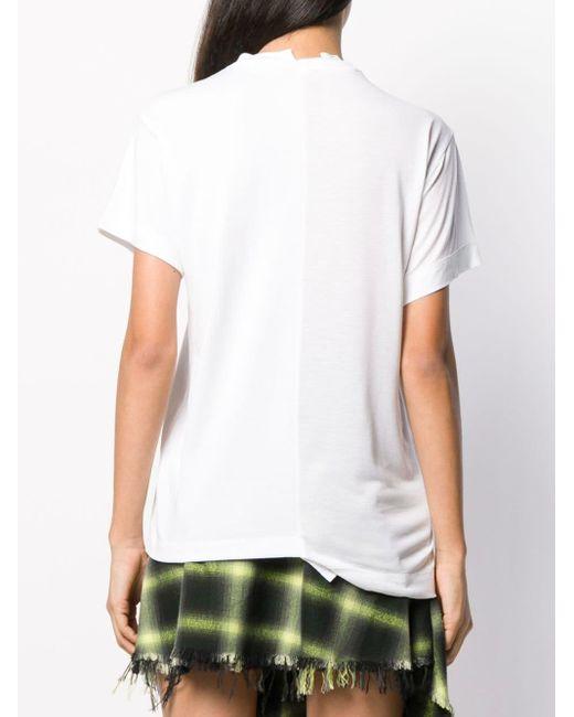 Monse アシンメトリーtシャツ White