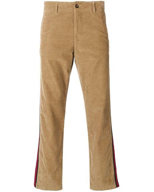 メンズ Gucci ウェブ コーデュロイパンツ Multicolor