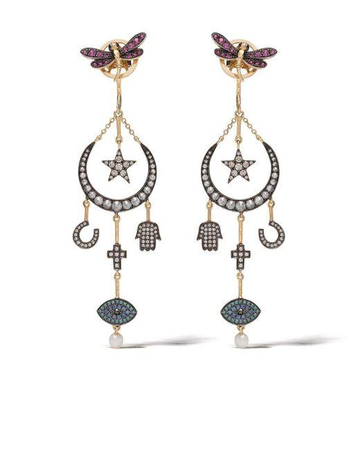 Boucles d'oreilles Love Diamonds Annoushka en coloris Metallic
