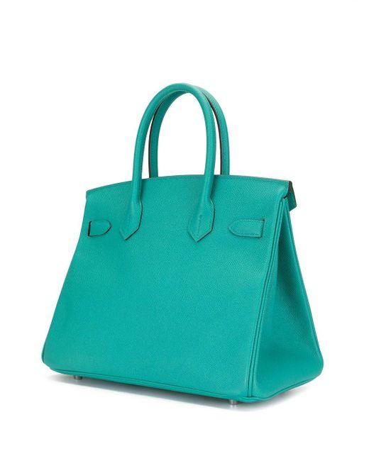 Hermès 2019 プレオウンド バーキン 35 バッグ Blue