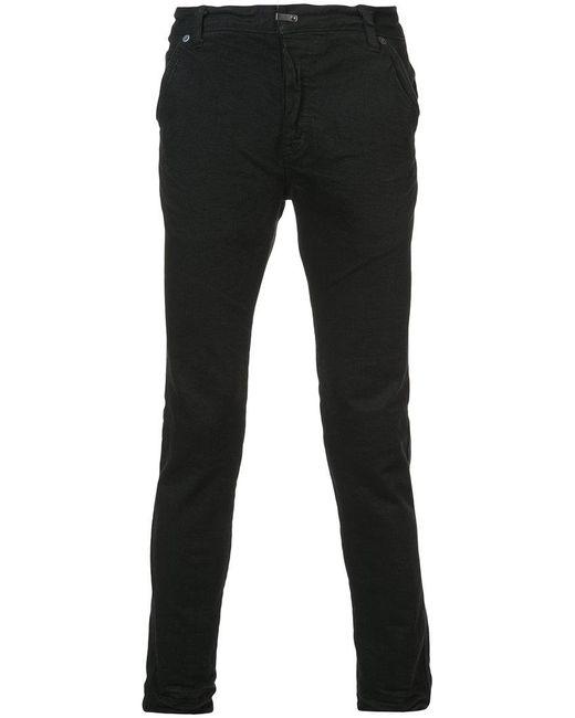 The Viridi-anne - Black Seam Detail Cotton Pants for Men - Lyst