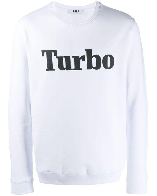 メンズ MSGM Turbo スウェットシャツ White