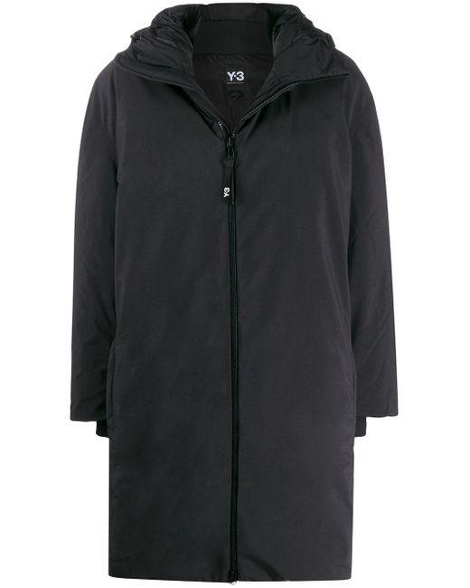 Y-3 オーバーサイズ パデッドコート Black