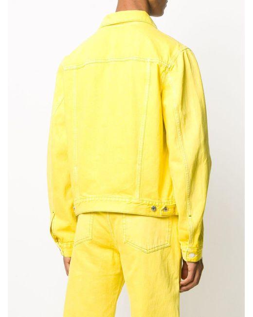 メンズ Helmut Lang ボタン デニムジャケット Yellow