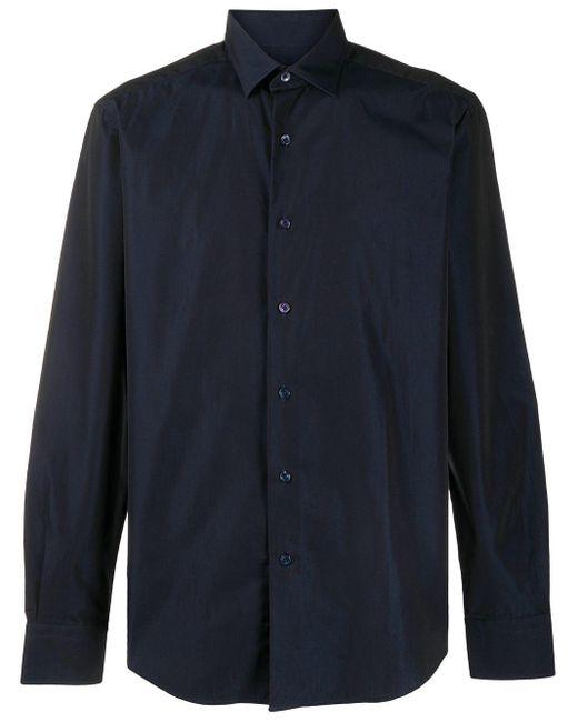 メンズ Lanvin ポインテッドカラー シャツ Blue