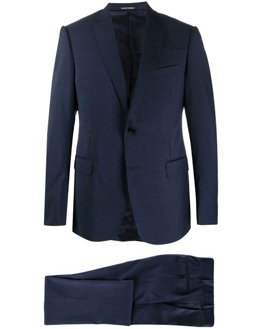 メンズ Emporio Armani シングルスーツ Blue
