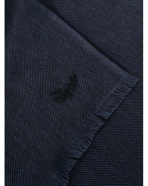 メンズ Ermenegildo Zegna ロゴ スカーフ Blue