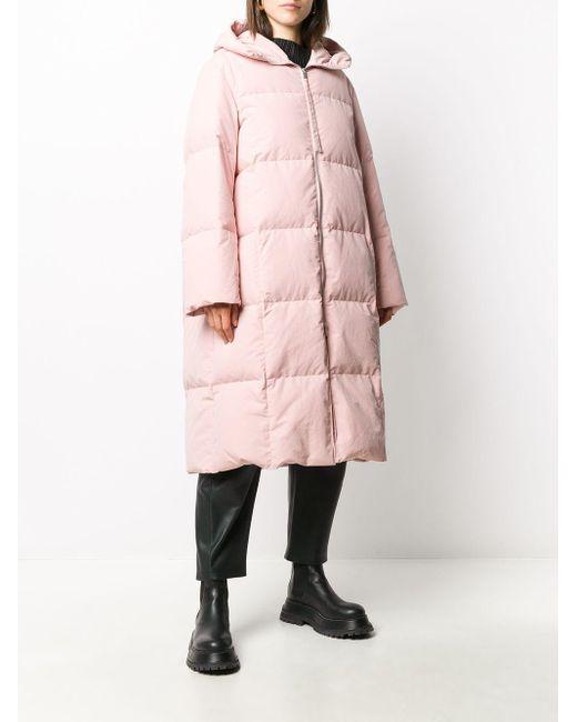 Jil Sander フーデッド パデッドコート Pink