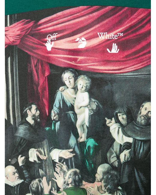 Худи С Принтом Caravaggio Off-White c/o Virgil Abloh для него, цвет: Green