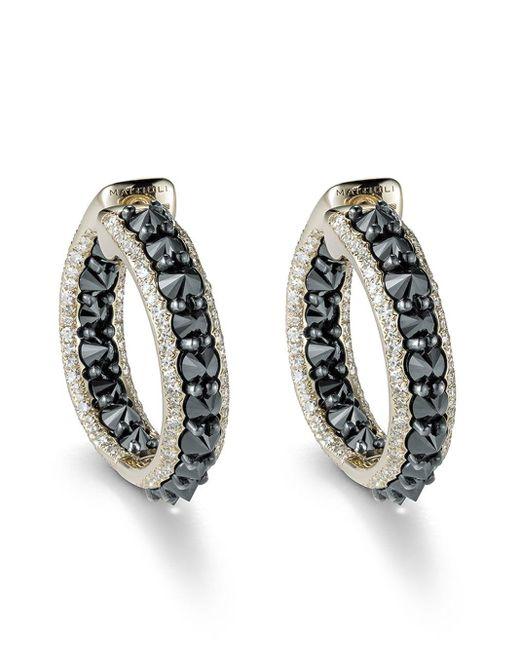 Boucles d'oreilles pendantes en or 18ct à diamants Mattioli en coloris Metallic