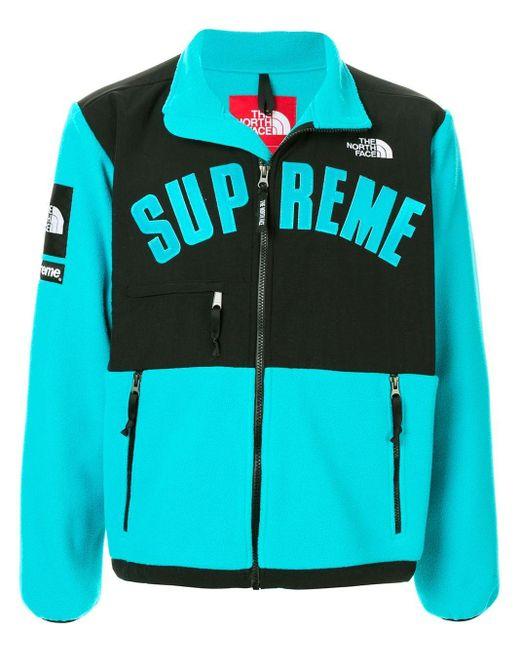 メンズ Supreme ロゴ ジャケット Blue