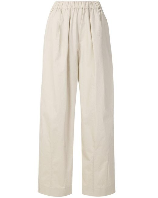 Emporio Armani - Natural High-waisted Palazzo Pants - Lyst