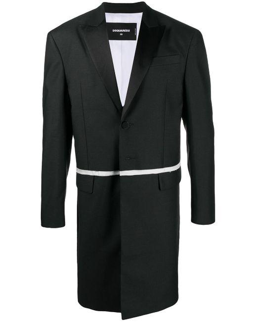 メンズ DSquared² レイヤード コート Black