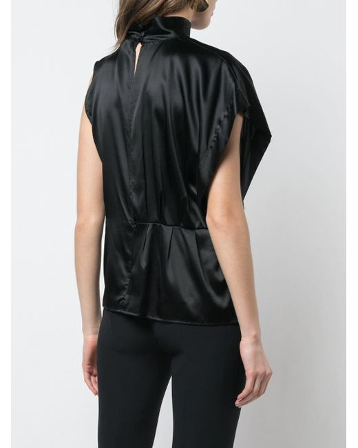 Рубашка С Высоким Воротником Стойкой FEDERICA TOSI, цвет: Black