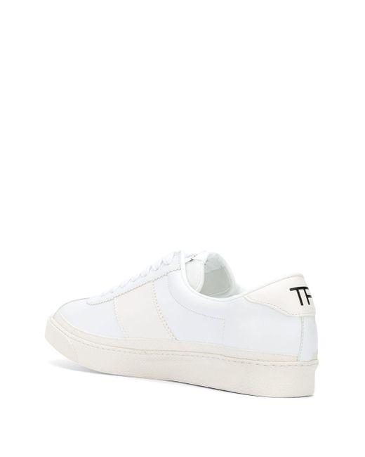 メンズ Tom Ford パネル スニーカー White