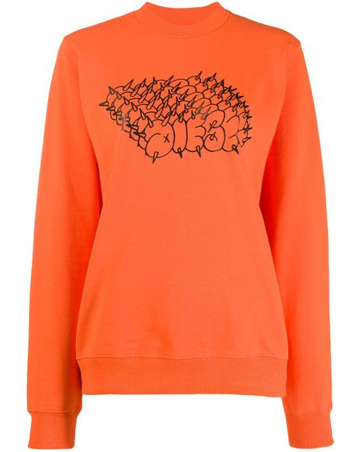 DIESEL ロゴ スウェットシャツ Orange