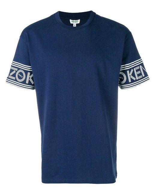メンズ KENZO ロゴプリント Tシャツ Blue