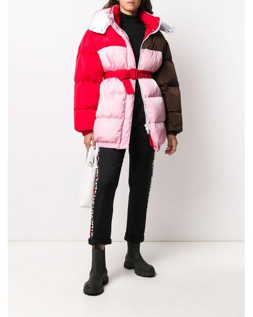 MSGM カラーブロック ダウンジャケット Pink