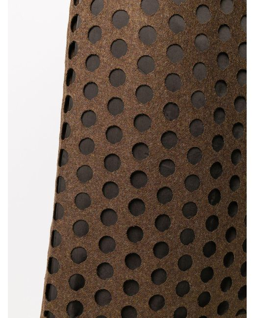 Юбка Миди С Вырезами Maison Margiela, цвет: Brown