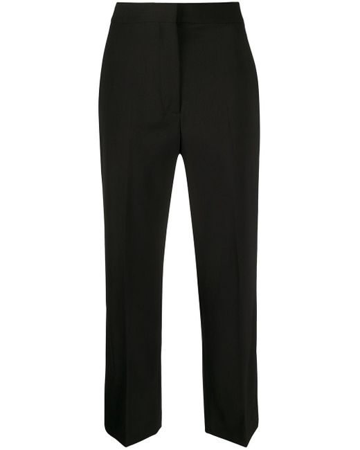 Pantalon de costume crop Stella McCartney en coloris Black