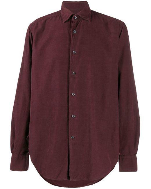 メンズ Glanshirt レギュラーフィット リブシャツ Red