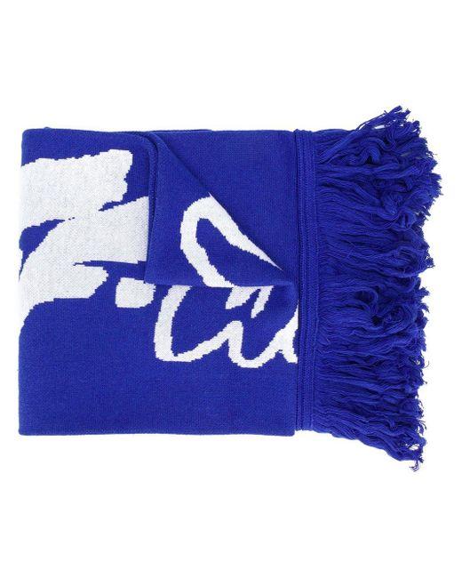 Écharpe frangée à logo Off-White c/o Virgil Abloh pour homme en coloris Blue