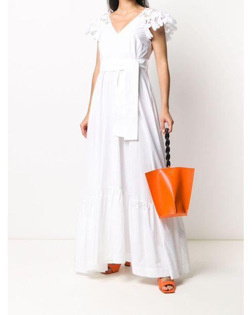 P.A.R.O.S.H. ウエストタイ ドレス White