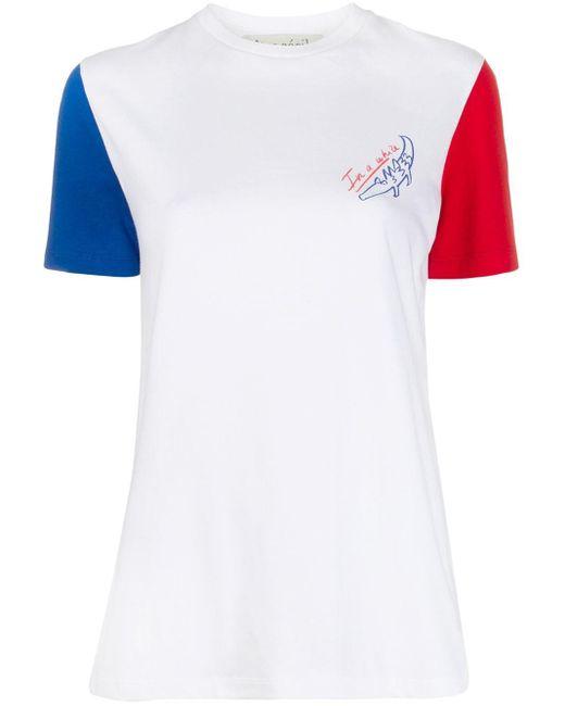 Être Cécile White In A While Crocodile Print T-shirt