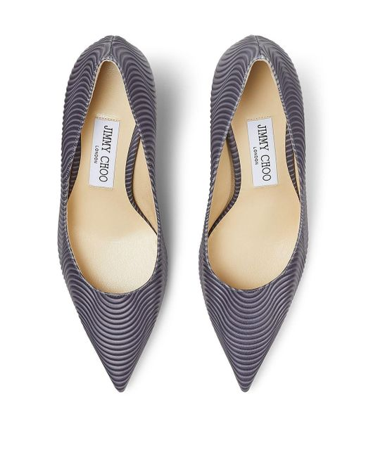 Туфли С Заостренным Носком И Узором Jimmy Choo, цвет: Gray
