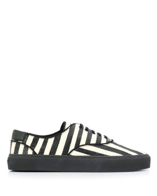 Saint Laurent Black Venice Low-top Sneakers for men