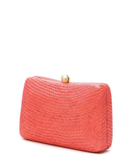 Соломенный Клатч Serpui, цвет: Red