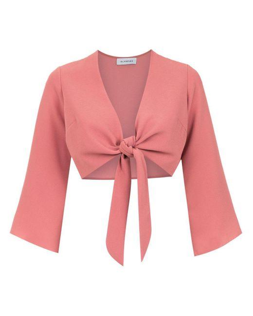 Olympiah Top Lucca corto de mujer de color rosa afNaY
