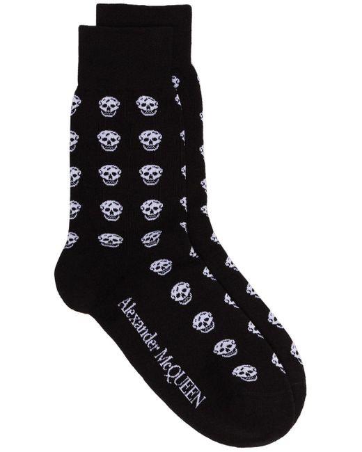 Calcetines con motivo de calavera Alexander McQueen de hombre de color Black