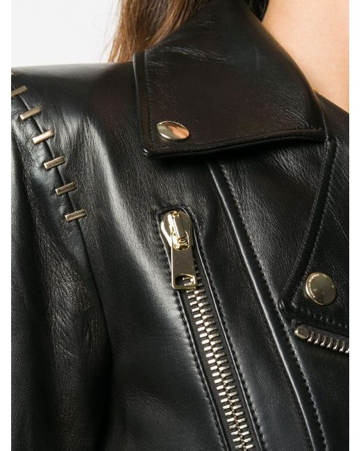 Байкерская Куртка С Баской Alexander McQueen, цвет: Black