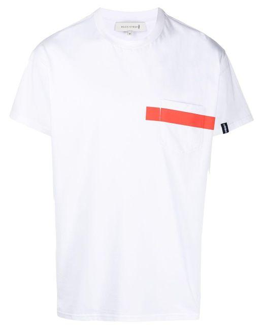 メンズ Mackintosh コントラストディテール Tシャツ White