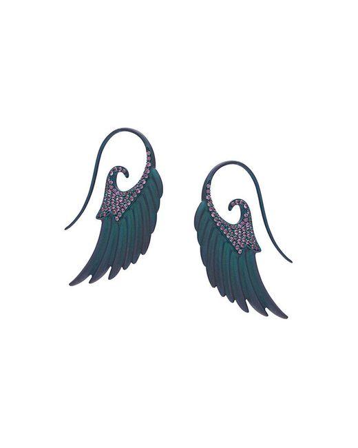 Noor Fares - Green Angel Wings Earrings - Lyst