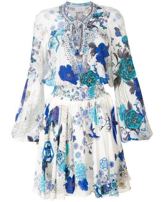 Camilla White Moon プリント ドレス Blue