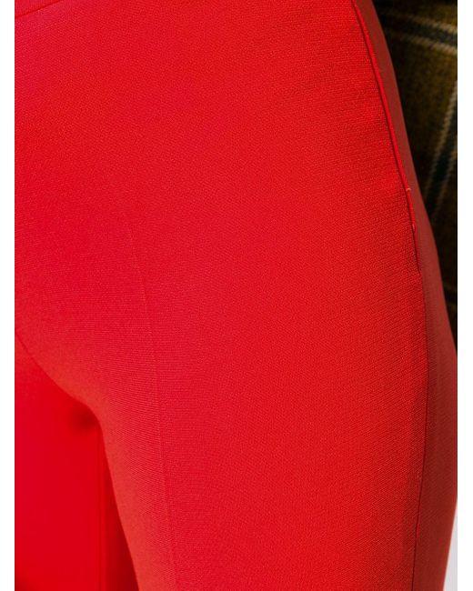 Alberto Biani クロップド クレープパンツ Red