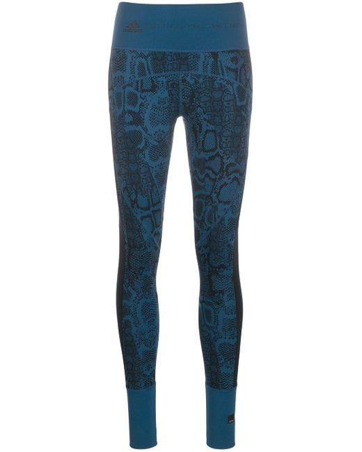 Adidas By Stella McCartney スネークスキンパターン レギンス Blue