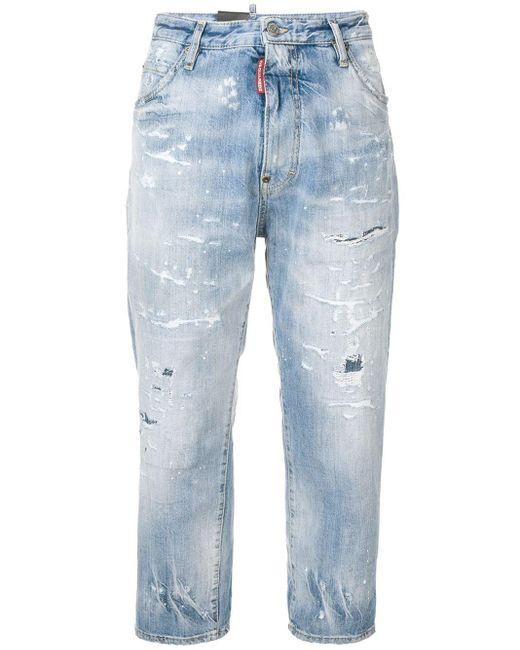 DSquared² クロップドジーンズ Blue