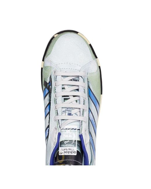 メンズ Adidas By Raf Simons Adidas X Raf Simons Stan Smith スニーカー Blue