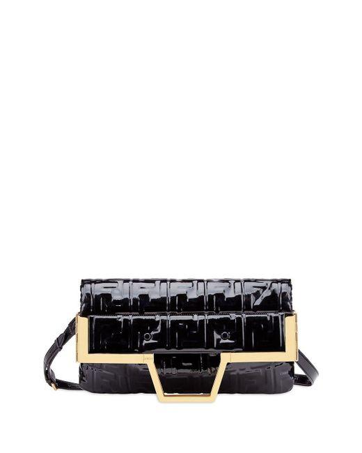 Сумка-шопер С Узором Ff Fendi, цвет: Black