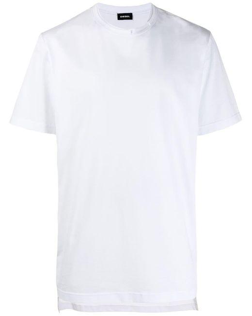 メンズ DIESEL レイヤード Tシャツ White